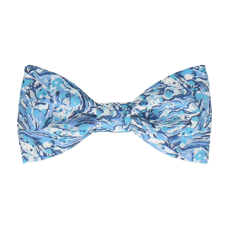 Blue Marble Peaks Liberty Cotton Bow Tie