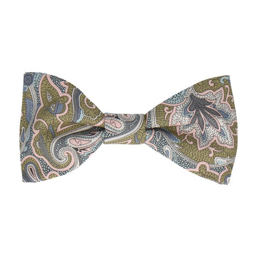 Gold Paisley Droplet Liberty Cotton Bow Tie