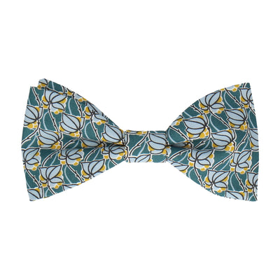 Mosaic in Saffron & Teal Bow Tie