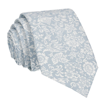Dusty Blue Kelmscott Liberty Cotton Tie
