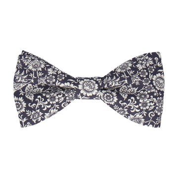 Midnight Purple Kelmscott Liberty Cotton Bow Tie
