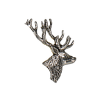 Stag Head Lapel Pin