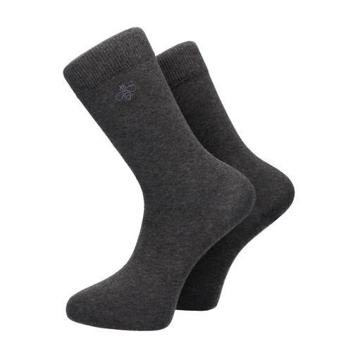 Oxbridge Socks in Charcoal Marl