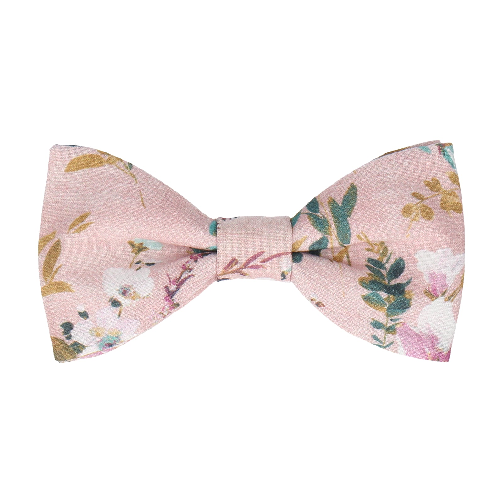 Dusty Pink Watercolour Asian Floral Bow Tie