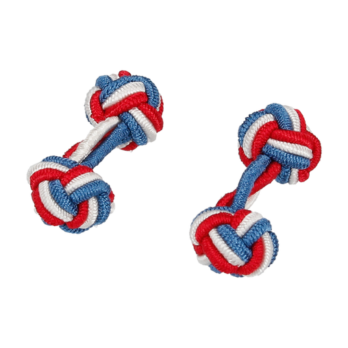 RED, WHITE AND BLUE ELASTIC CUFFLINKS
