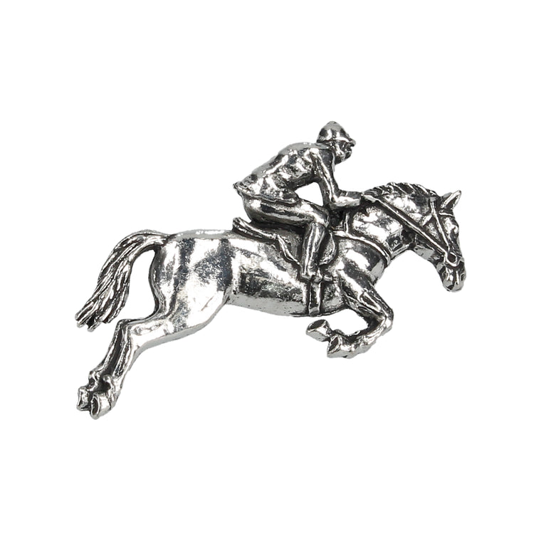 Horse & Jockey Lapel Pin