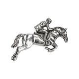 HORSE AND JOCKEY LAPEL PIN