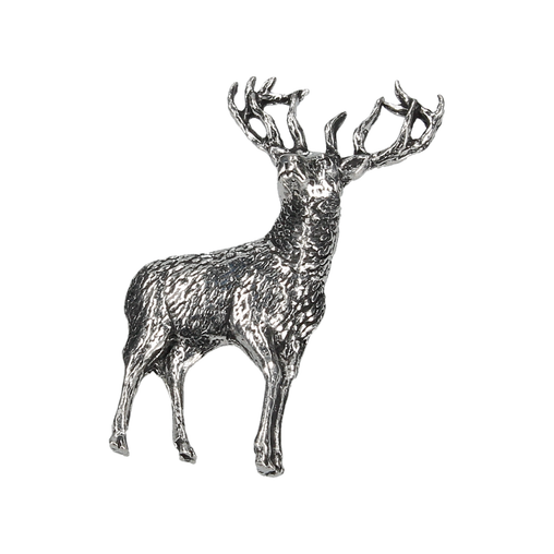 STANDING STAG LAPEL PIN