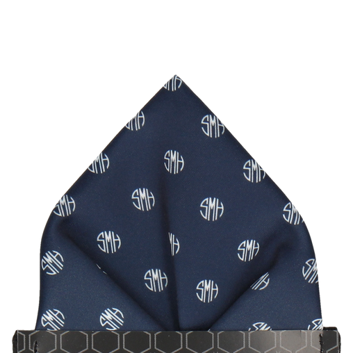Circular Monogram Pocket Square (Personalised)