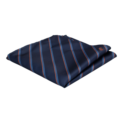 Monogram Stripe Pocket Square (Personalised)