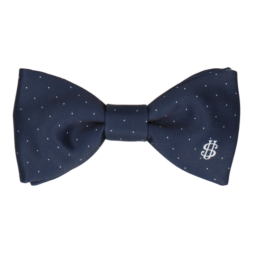 Monogram Pin Dots Bow Tie (Personalised)