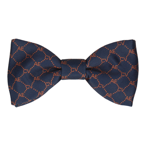 Blue & Orange Argyle Bow Tie (Personalised)