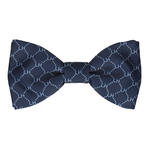 Navy & Pale Blue Argyle Bow Tie (Personalised)