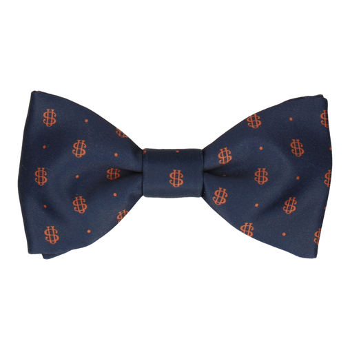 Orange Dots Repeat Bow Tie (Personalised)