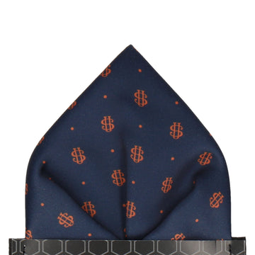 Orange Dots Repeat Pocket Square (Personalised)