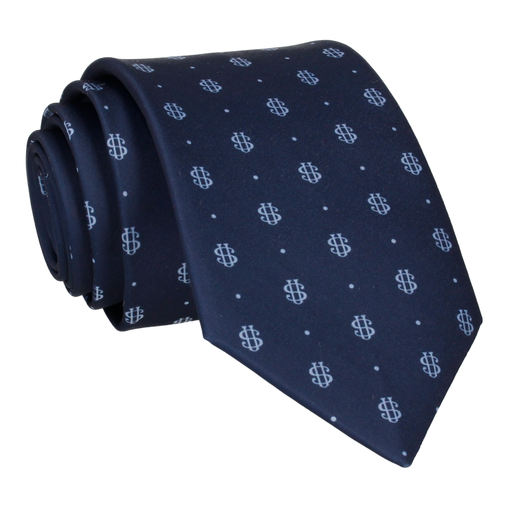 Blue Dots Repeat Tie (Personalised)