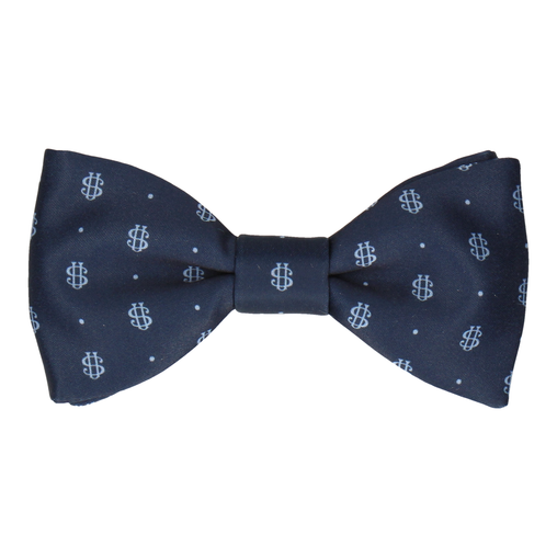 Blue Dots Repeat Bow Tie (Personalised)