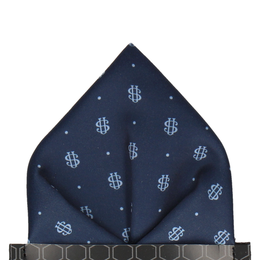 Blue Dots Repeat Pocket Square (Personalised)