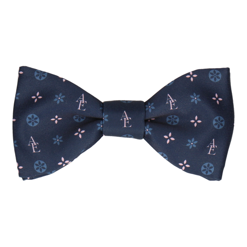 Blue and Pink Motif Bow Tie (Personalised)