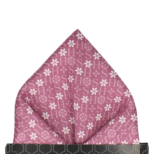 Mauve Floral Motif Pocket Square (Personalised)