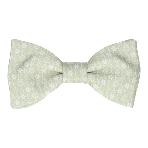 Green Floral Motif Bow Tie (Personalised)