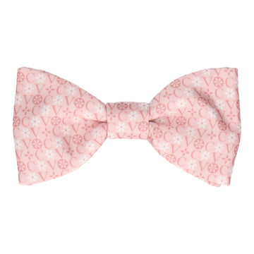Blush Floral Motif Bow Tie (Personalised)