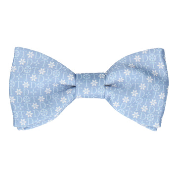 Blue Floral Motif Bow Tie (Personalised)