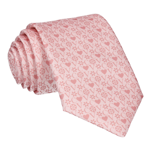 Blush Heart Monogram Tie (Personalised)