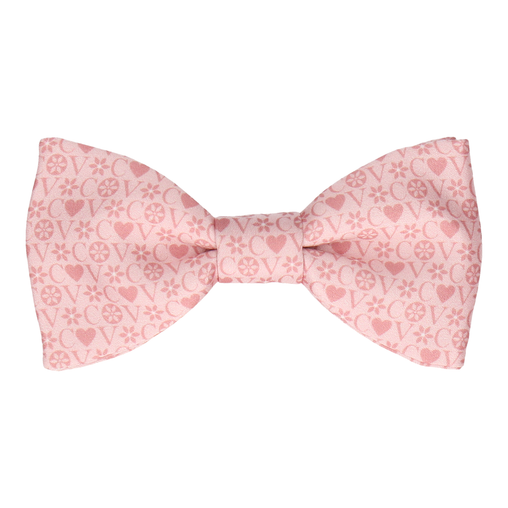 Blush Heart Monogram Bow Tie (Personalised)