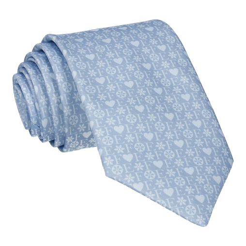 Blue Heart Monogram Tie (Personalised)