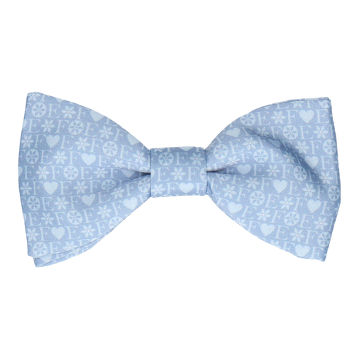 Blue Heart Monogram Bow Tie (Personalised)