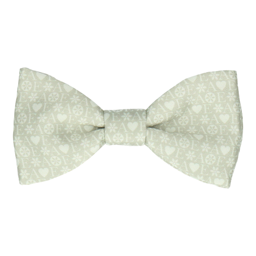 Green Heart Monogram Bow Tie (Personalised)