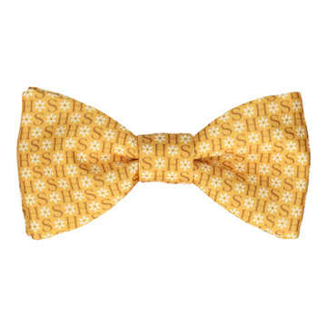 Mustard Flower Monogram Bow Tie (Personalised)