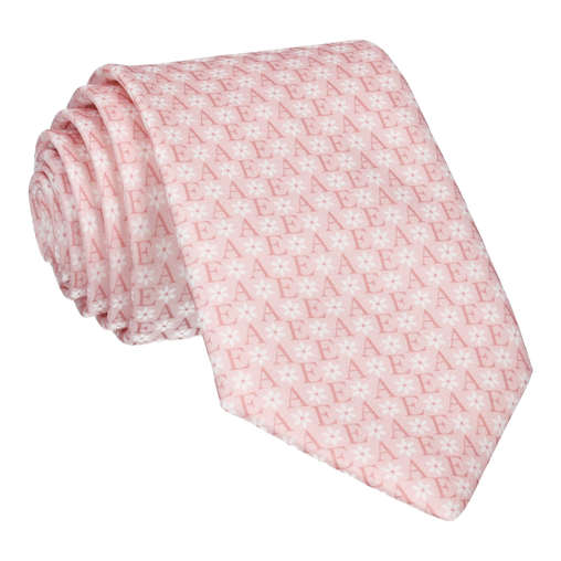 Blush Flower Monogram Tie (Personalised)
