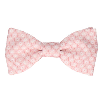 Blush Flower Monogram Bow Tie (Personalised)