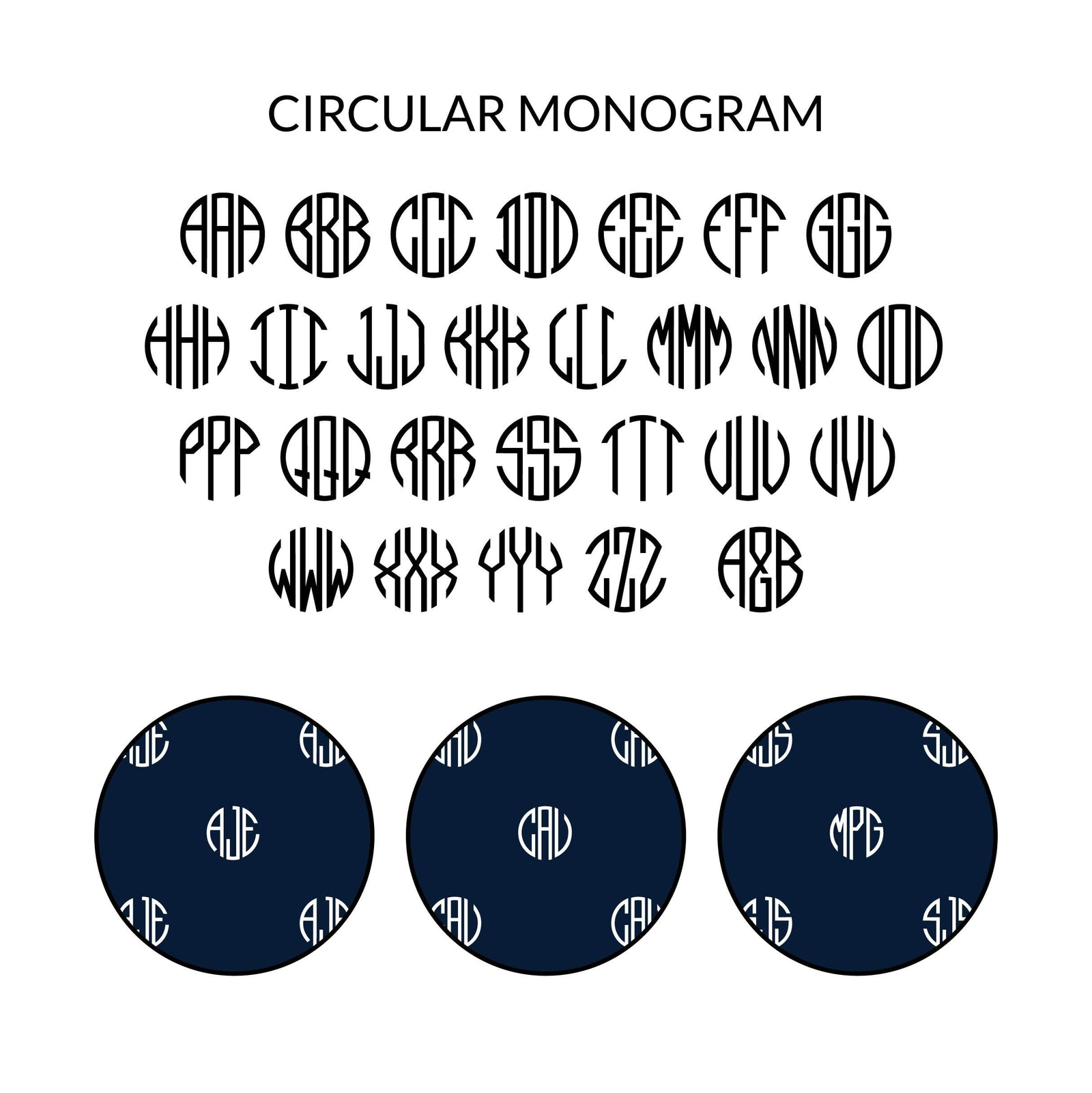 Circular Monogram Bow Tie (Personalised)
