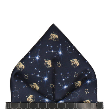 Taurus Zodiac Star Sign Pocket Square