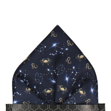 Cancer Zodiac Star Sign Pocket Square