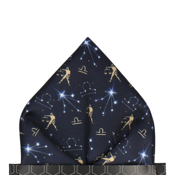 Libra Zodiac Star Sign Pocket Square
