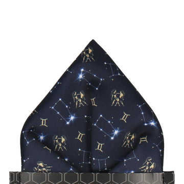 Gemini Zodiac Star Sign Pocket Square