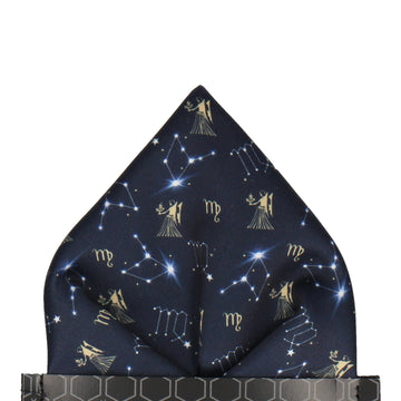 Virgo Zodiac Star Sign Pocket Square