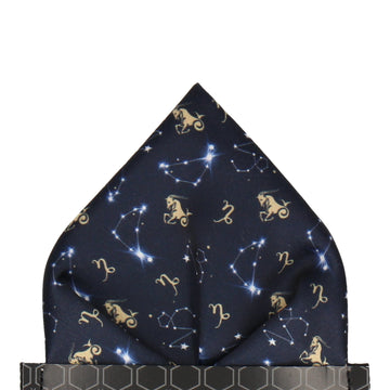 Zodiac Capricorn Pocket Square