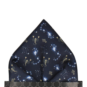 Scorpio Zodiac Star Sign Pocket Square