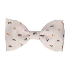 African Animals Stone Bow Tie