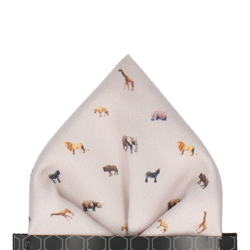 African Animals Stone Pocket Square