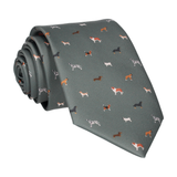 Olive Green Dog Print Tie