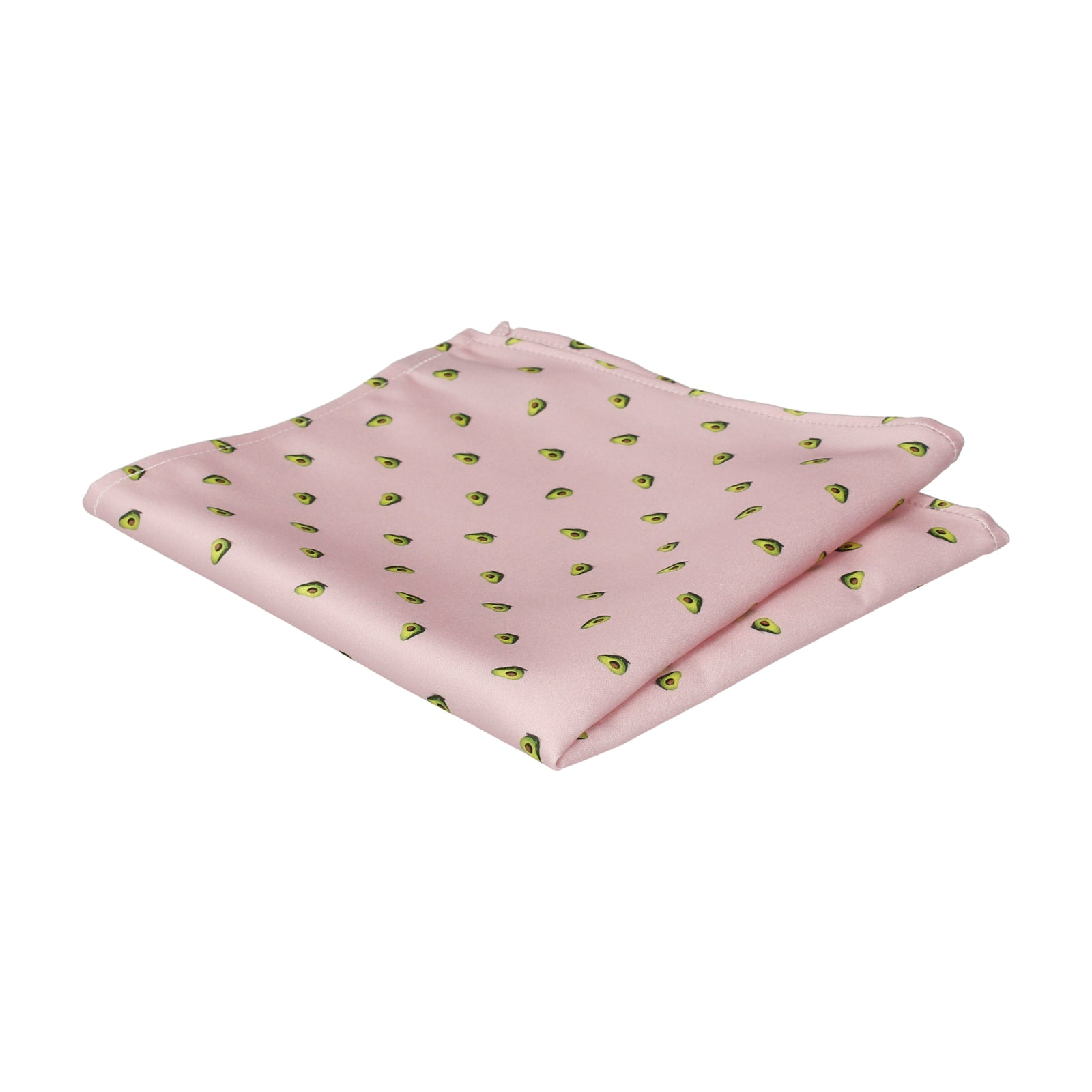 Avocados Light Pink Pocket Square