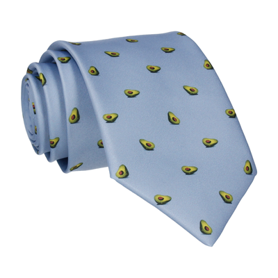 Avocados Steel Blue Tie