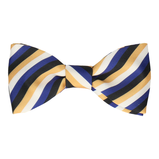 Hewson Yellow Stripe Bow Tie