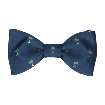 Palm Trees Navy Blue Bow Tie